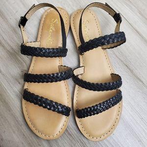 New Splendid Truman Braided Leather Sandals